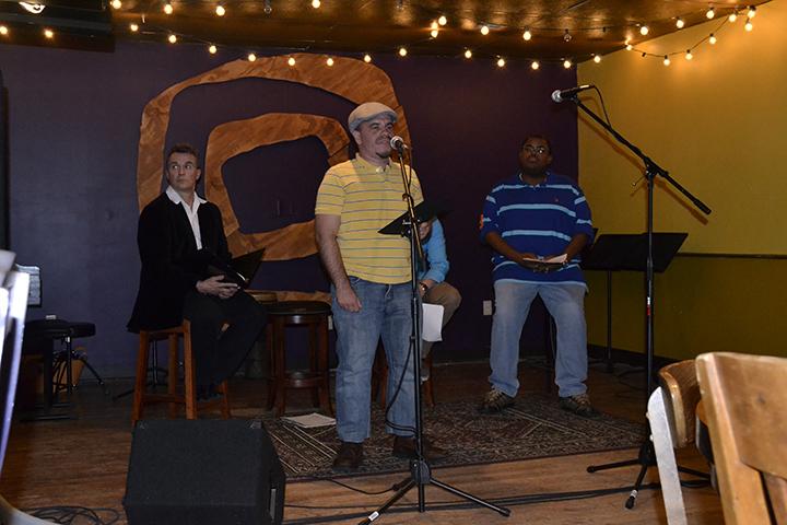 Brandon Rickey performing as part of the Manologues on Friday, September 13. PREFACE PHOTOS/SARAH WARD