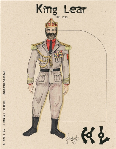 A sketch done by Jason Resler, depicting his vision for Randy Colborn's portrayal of King Lear (Image provided)