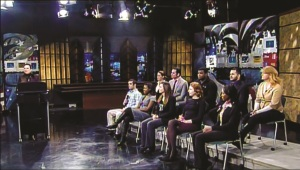 A screenshot from the episode shows the student panel