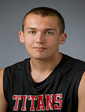 Joe Godfread is a sophomore at IU South Bend and a center for the men's basketball team. (Photo credit: www.iusbtitans.com)