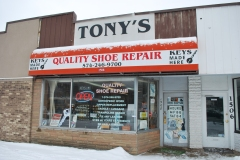 The front of Tony's Quality Shoe Repair, located on Mishawaka Avenue. Preface photo/NICK WORT