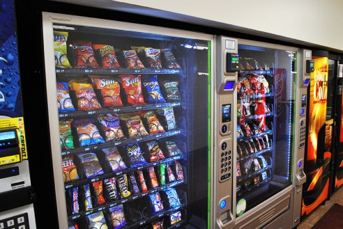A bump in the cost of items in vending machines on campus is the result of rising food costs for vendors. (Preface photo: Nick Wort)
