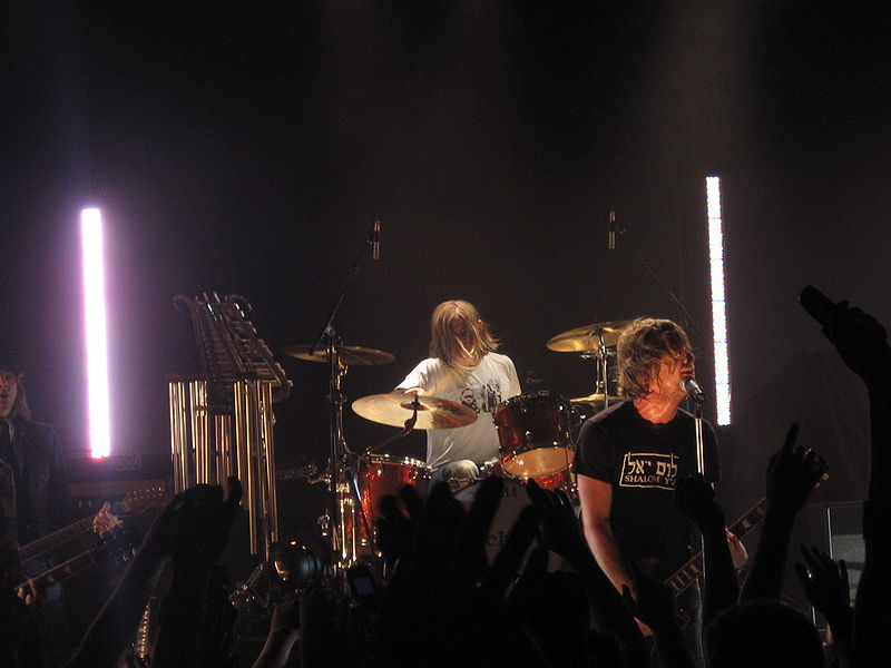 "From left to right: Drummer Chad Butler and vocalist Jon Foreman of San Diego rock band Switchfoot. The band is currently on tour in support of their new album ""Fading West."" Photo/Wikimedia Commons"