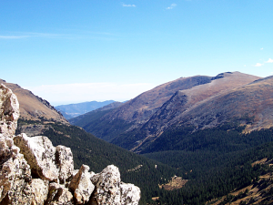 A view of the continental divide, taken near Estes Park, Colorado. Estes Park, a popular resort town, is also the headquarters of Rocky Mountain National Park.  (Photo/Wikimedia Commons)