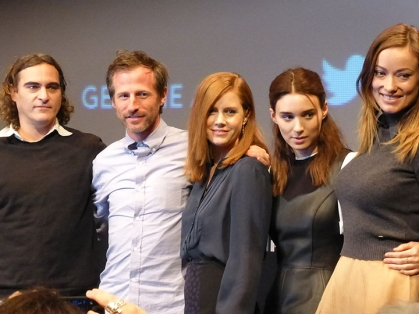 "The cast of ""Her"" from left to right: Joaquin Phoenix, director Spike Jonze, Amy Adams, Rooney Mara and Olivia Wilde. ""Her"" was nominated for five Academy Awards including Best Picture.  (Photo/Wikimedia Commons)"