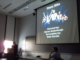 Stacie Balentine presenting Magic Mike