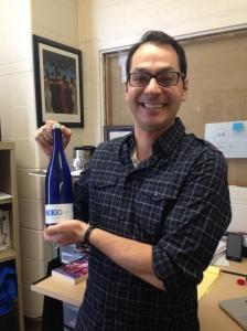 Photo Caption: Cataldo with a bottle of IndigoH2O. Photo credit/Amanda Barnett