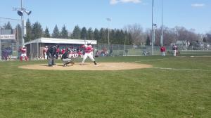 Senior Jordan Hinton at bat. Photo Credit/Sarah Whitehead