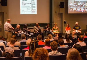 Dr. Darryl Heller speaks on the panel during the What's Going On? Discussion on the Black Lives Matter Movement and the Resurgence of Social Activism in America. PHOTO/LEAH FICK