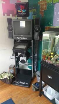 Columnist, Christine Giver owns a working PlayStation demo kiosk. PHOTO CREDIT/CHRISTINE GIVER