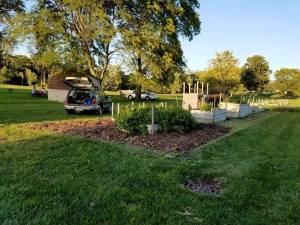 The IU South Bend Community Garden is located at River Crossing Student Housing. PHOTO/ROBYN HAWLEY